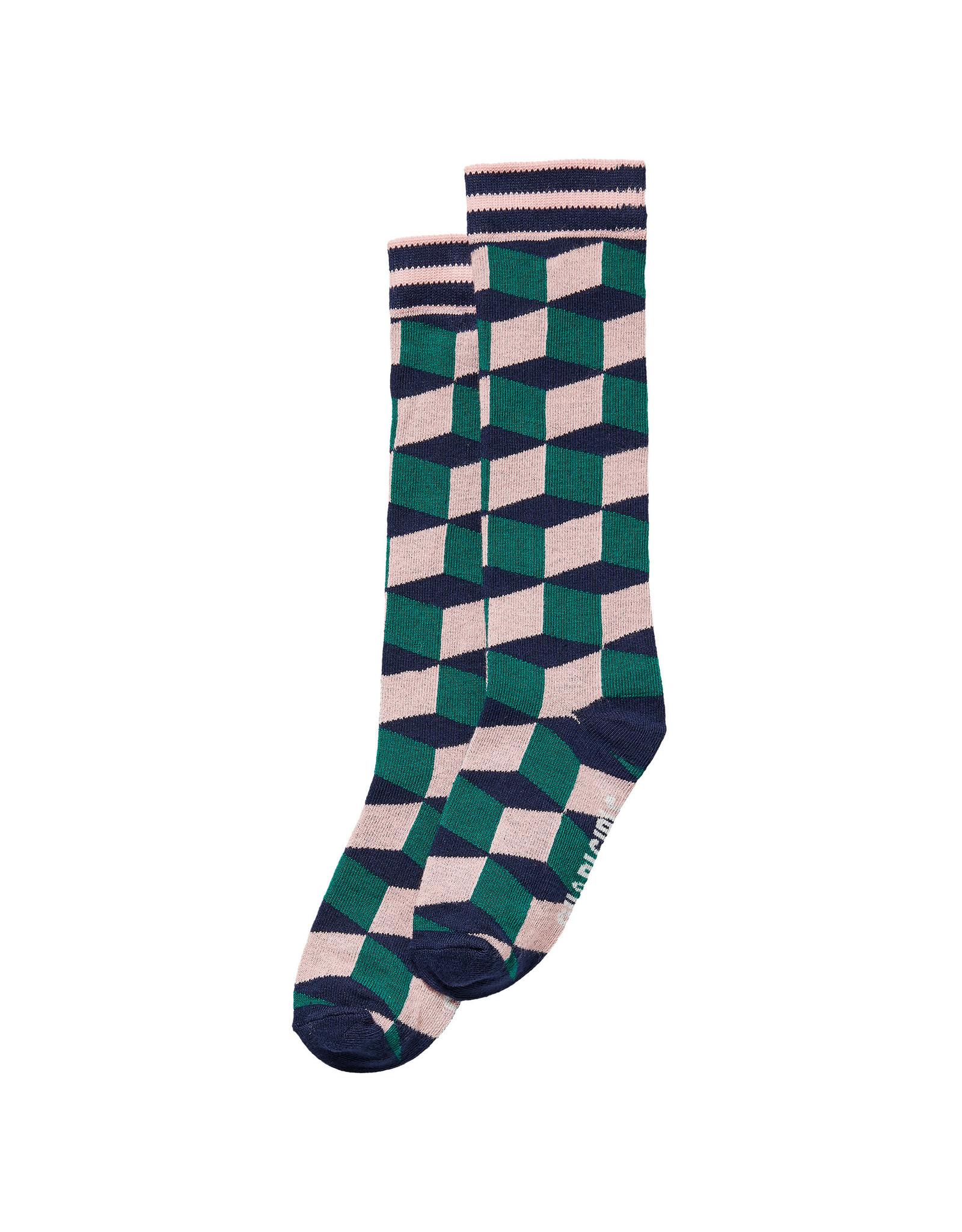 Quapi Quapi meisjes sokken Djenti Multi Color Stripe