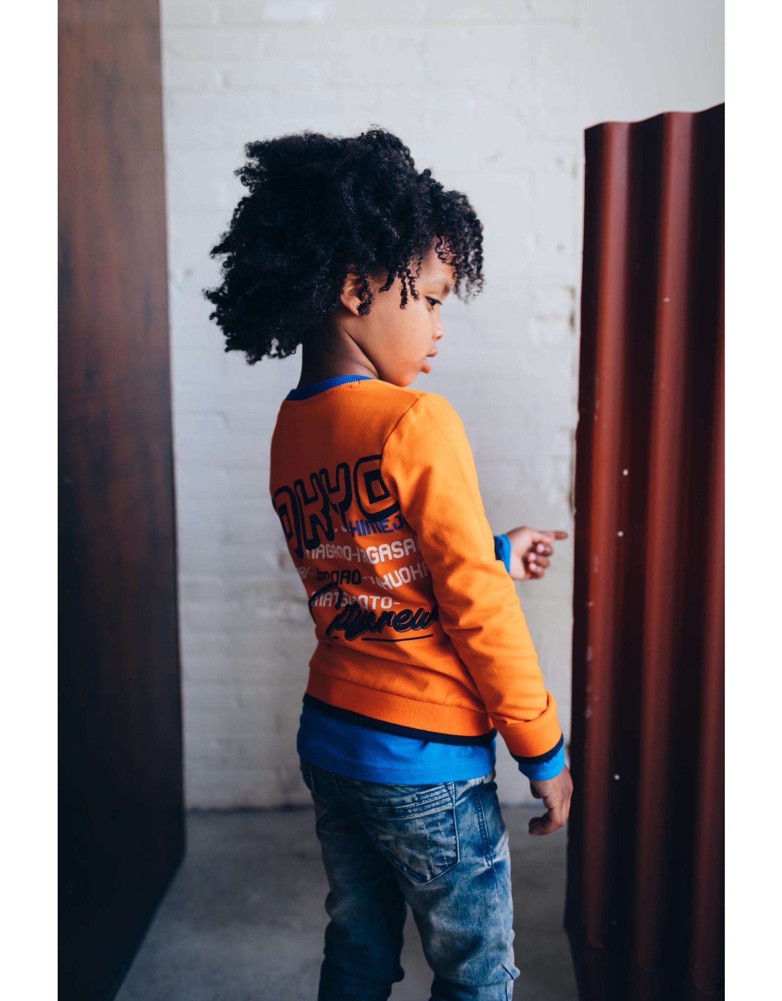 Quapi Quapi jongens sweater Deon Orange Tiger