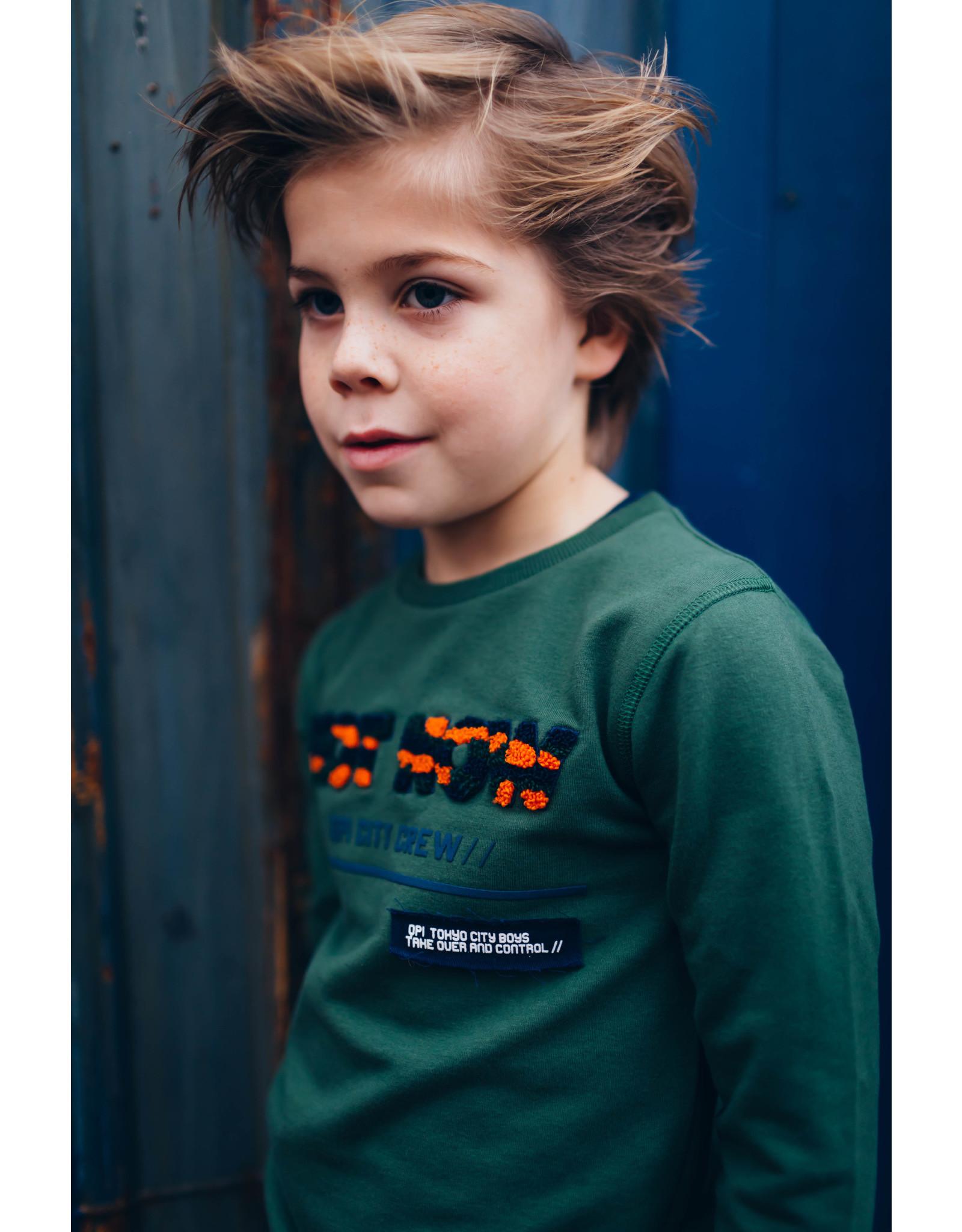 Quapi Quapi jongens sweater Denver Dark Green