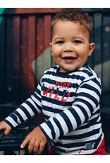 Quapi Quapi baby jongens shirt Egon Dark Grey Stripe