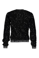 Elle Chic Elle Chic meiden sweater velours Black