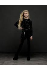 Elle Chic Elle Chic meiden jumpsuit velours Black