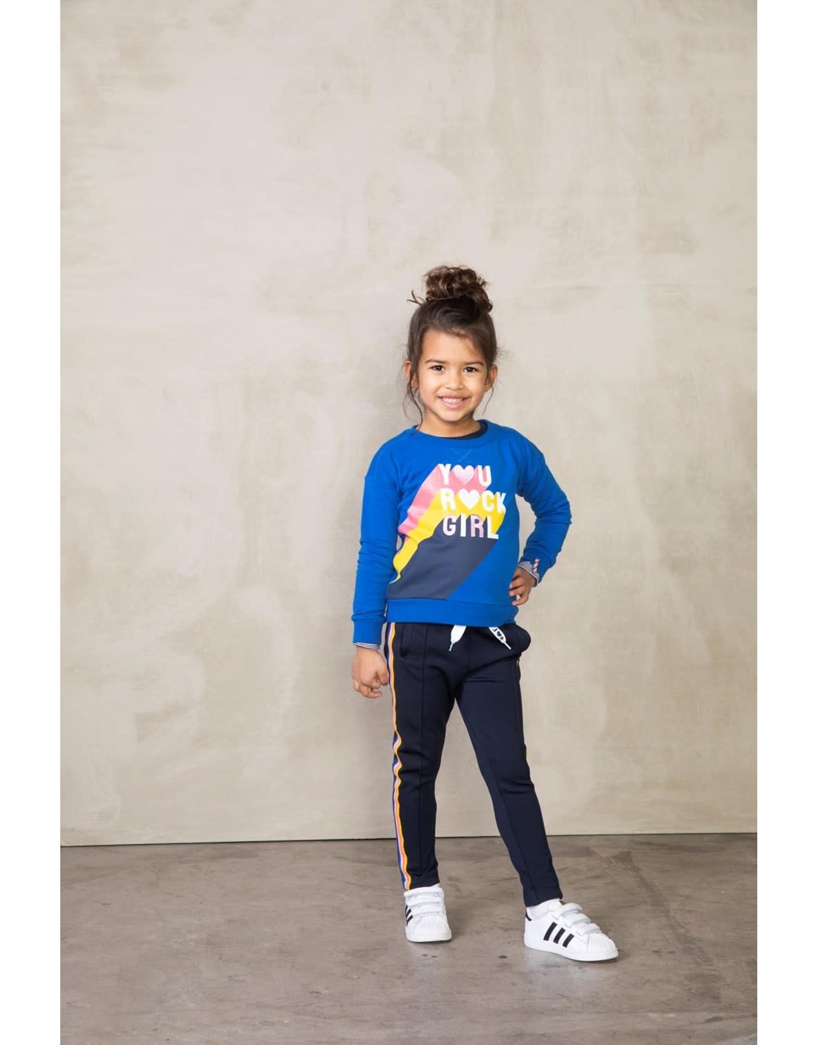 Jubel Jubel meisjes sweater you rock girl Kobalt