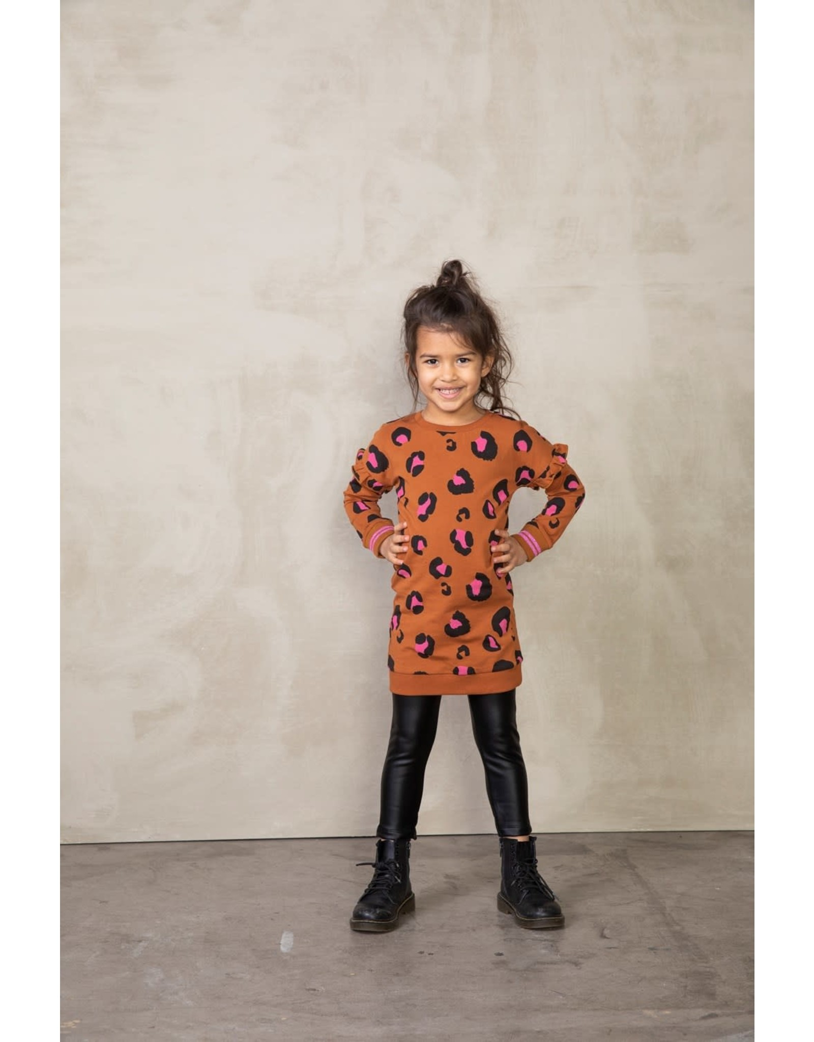 Jubel Jubel meisjes legging lederlook Zwart