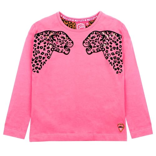 Jubel Jubel meisjes shirt tijgerkop Roze