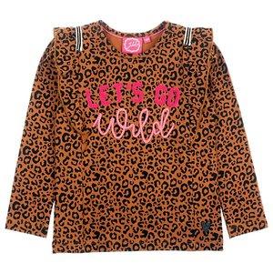Jubel Jubel meisjes shirt let's go wild Bruin