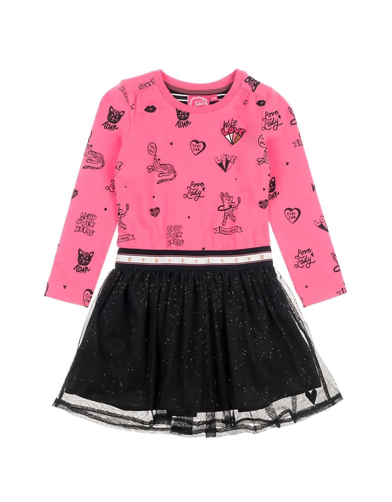 Jubel Jubel meisjes jurk met tule rokje Roze
