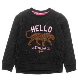 Jubel Jubel meisjes sweater hello Zwart