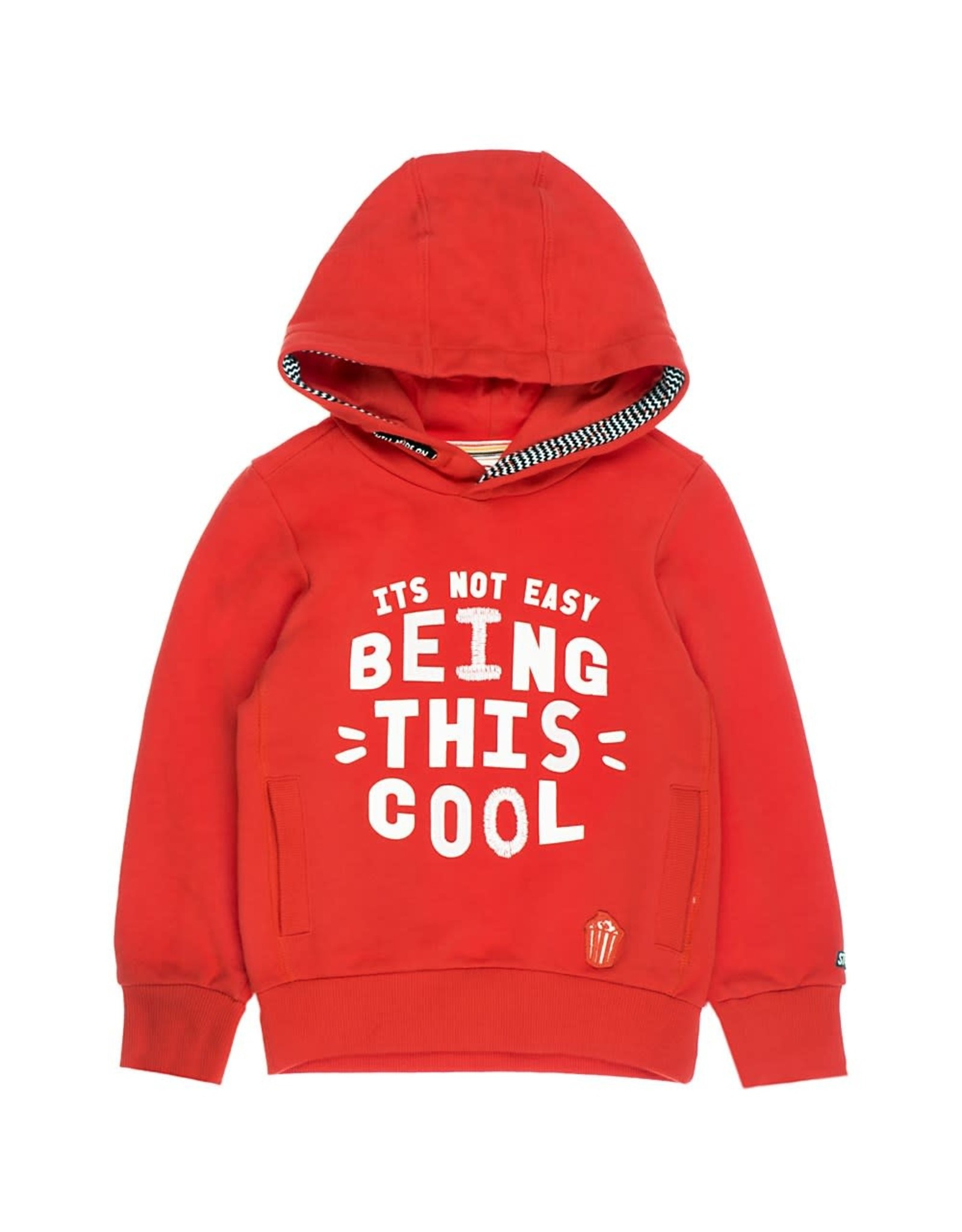 Sturdy Sturdy jongens hoodie being this cool Rood