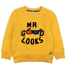Sturdy Sturdy jongens sweater mr.good looks Geel