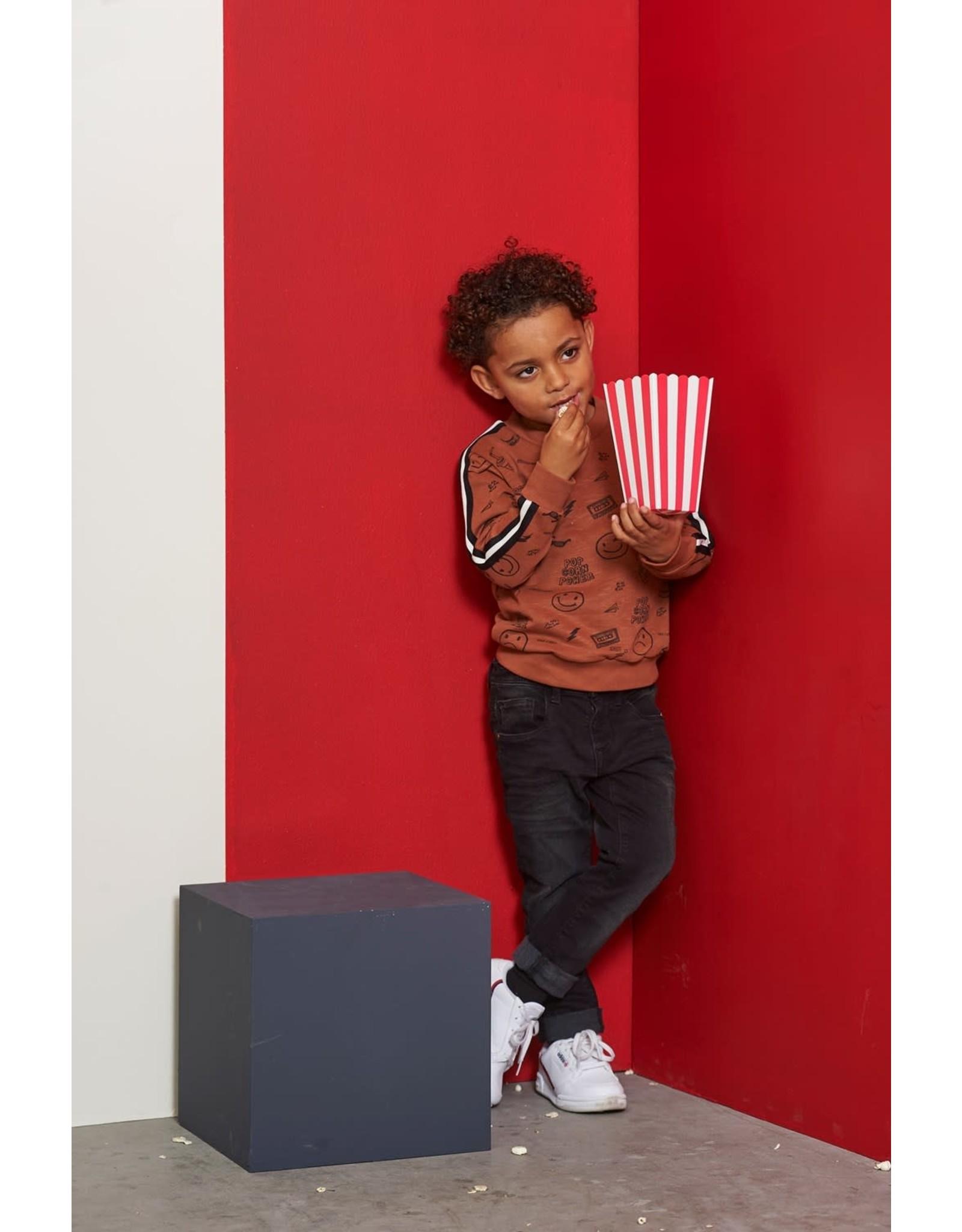 Sturdy Sturdy jongens sweater popcorn power Bruin