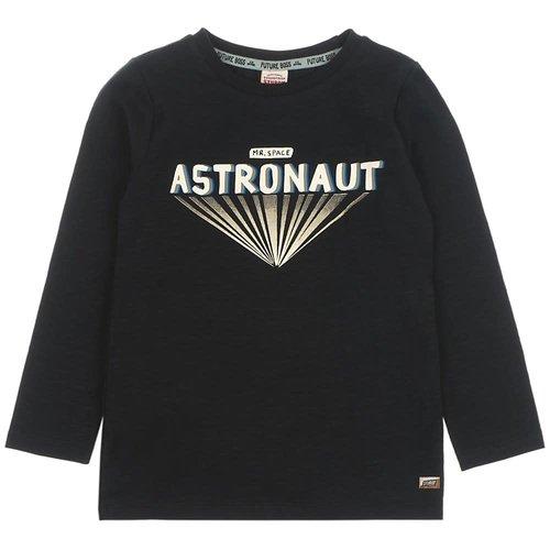 Sturdy Sturdy jongens shirt astronaut Zwart gemeleerd