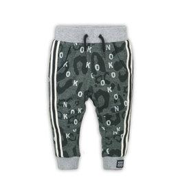 Koko Noko Koko Noko jongens logo joggingbroek Grey Melee Green