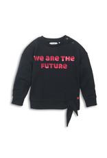 Koko Noko Koko Noko meisjes shirt met knoop Future Black