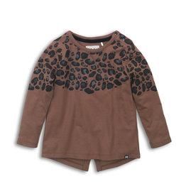 Koko Noko Koko Noko meisjes shirt met split achter Brown
