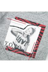 DJ Dutchjeans DJ Dutchjeans meisjes shirt Y.O.Y.O.Grey melange