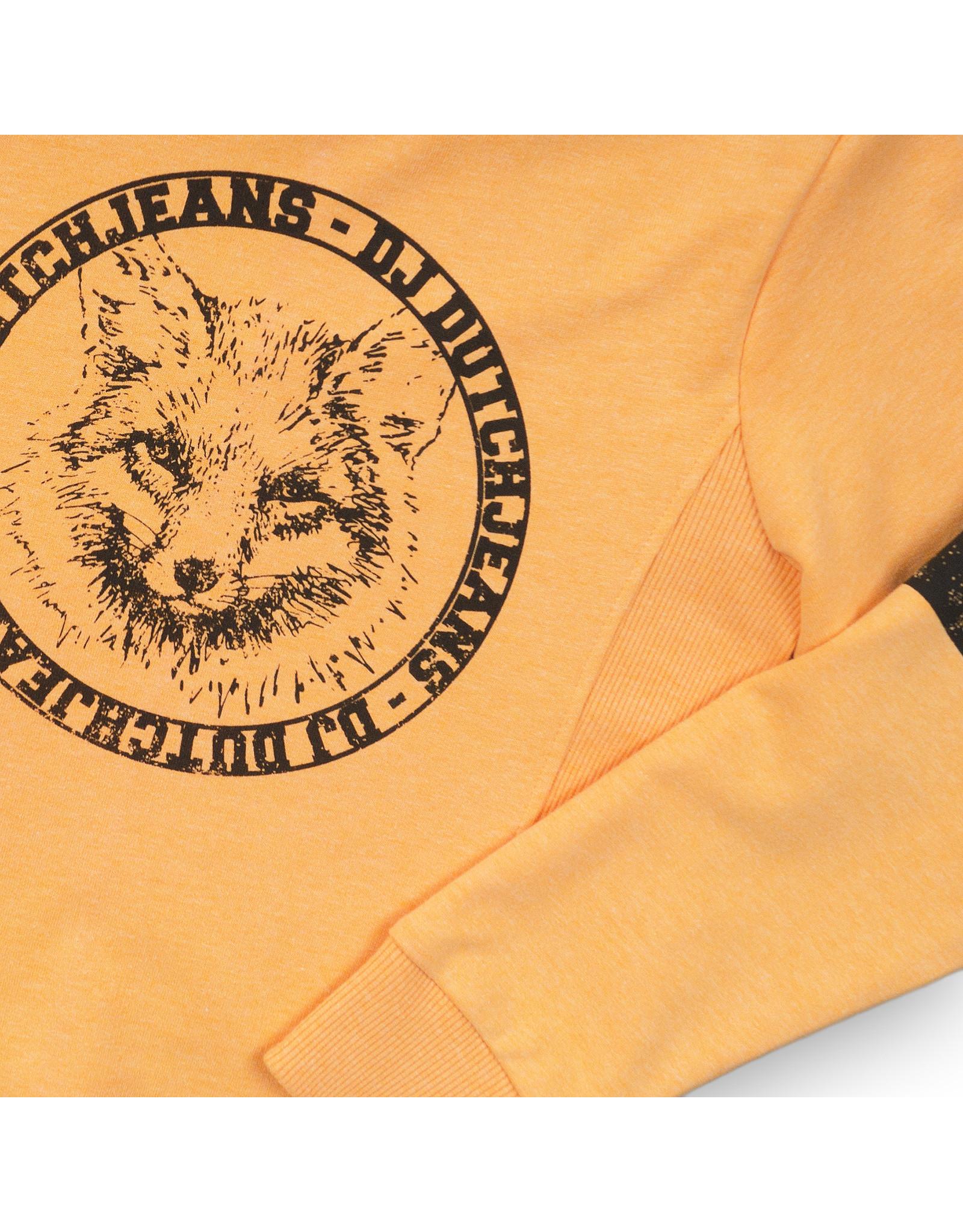 DJ Dutchjeans DJ Dutchjeans jongens sweater Wolf Orange