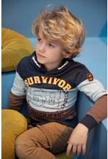 DJ Dutchjeans DJ Dutchjeans jongens hoodie Survivor Camel Grey Melee
