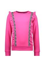 B.Nosy B.Nosy meisjes sweater met bies Pink Glo