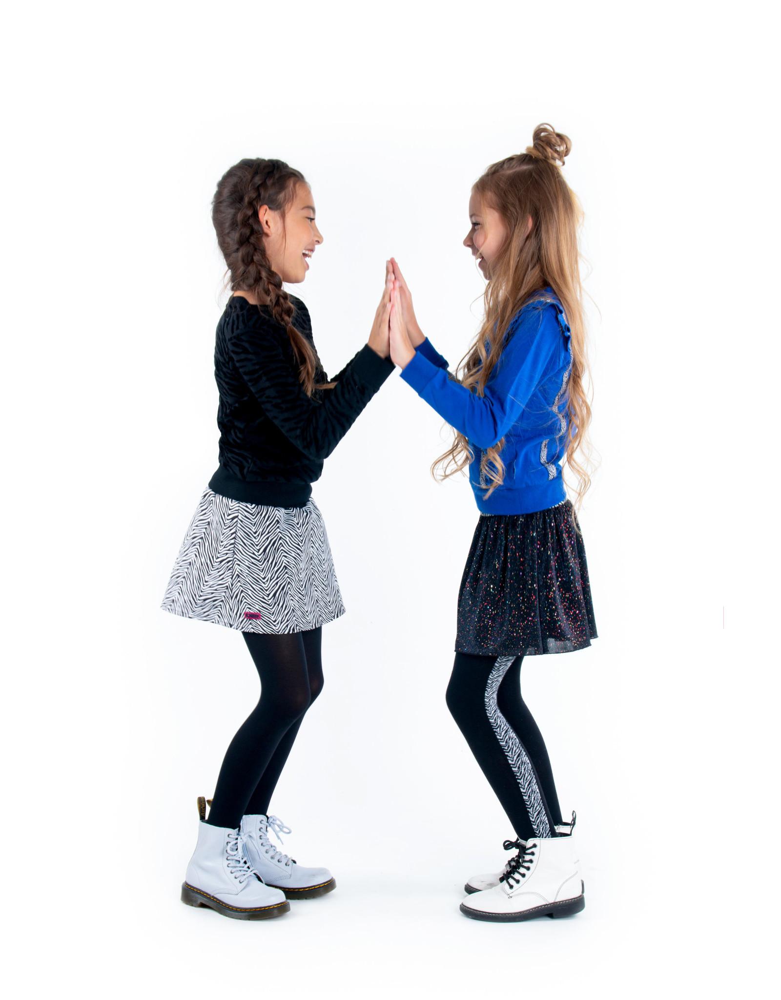 B.Nosy B.Nosy meisjes maillot met zebrabies Black