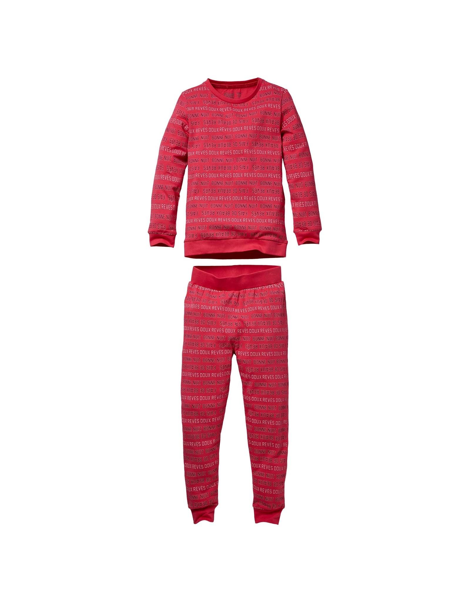 Quapi Quapi baby meisjes pyjama Puck Hot Pink tekst