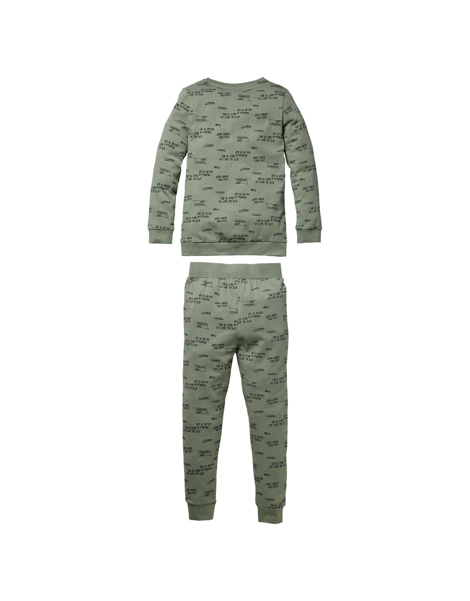 Quapi Quapi baby jongens pyjama Puck Green tekst