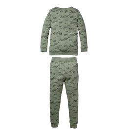 Quapi Quapi baby meisjes pyjama Puck Green tekst