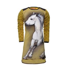 Lovestation meisjes jurk Geeke Yellow horse