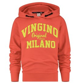 Vingino Vingino jongens hoodie organic cotton Flame Red