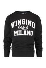 Vingino Vingino jongens sweater organic cotton Deep Black