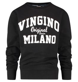 Vingino Vingino jongens sweater organic cotton Deep Black