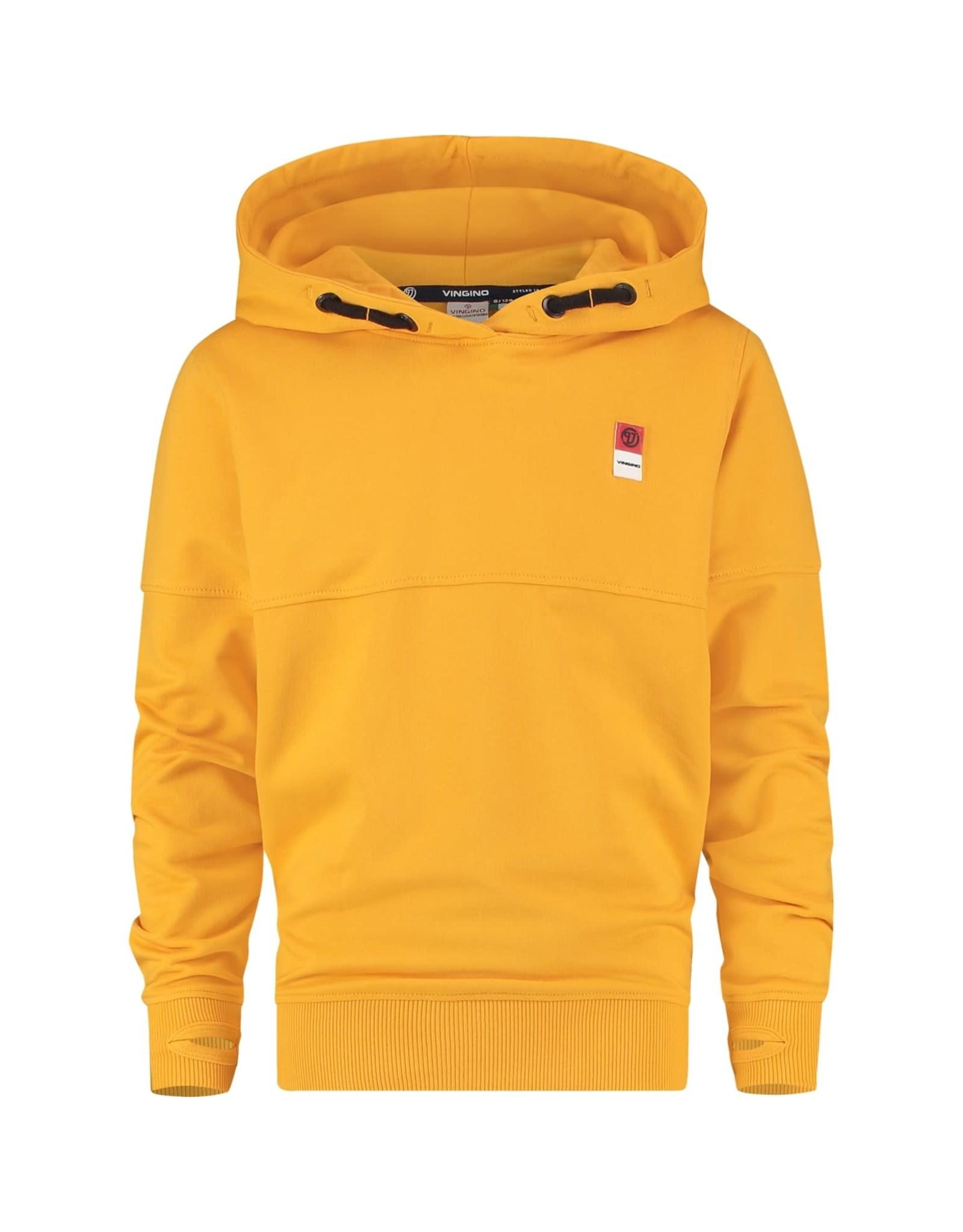 Vingino Vingino jongens hoodie organic cotton Gold Yellow