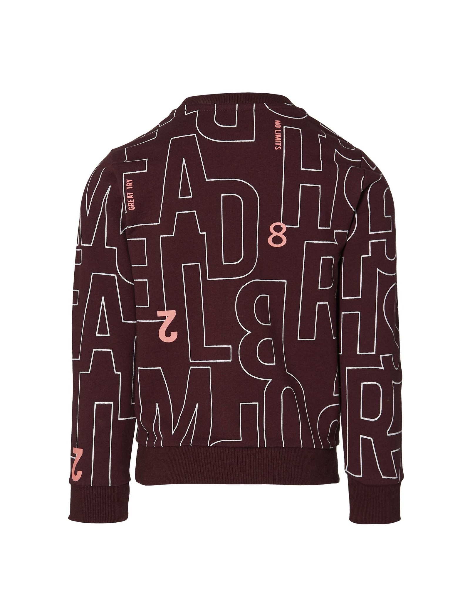Quapi Quapi jongens sweater Derek Bordeaux Text