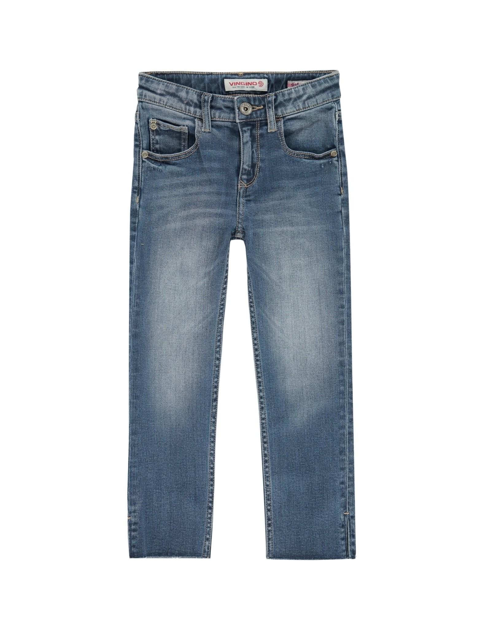 Vingino Vingino meiden Straight High Waist jeans Candy Old Vintage