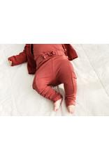 LEVV Levv newborn baby meisjes joggingbroek Luca Dark Rose