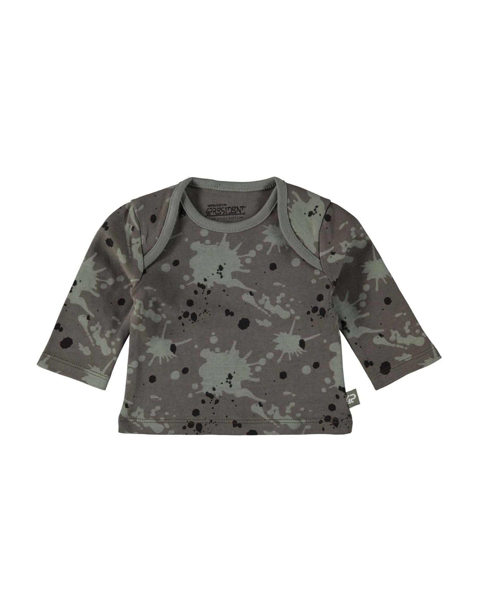 4President 4President newborn baby jongens shirt Amund Splatter