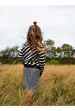 Quapi Quapi meisjes sweater Fenna Black Stripe