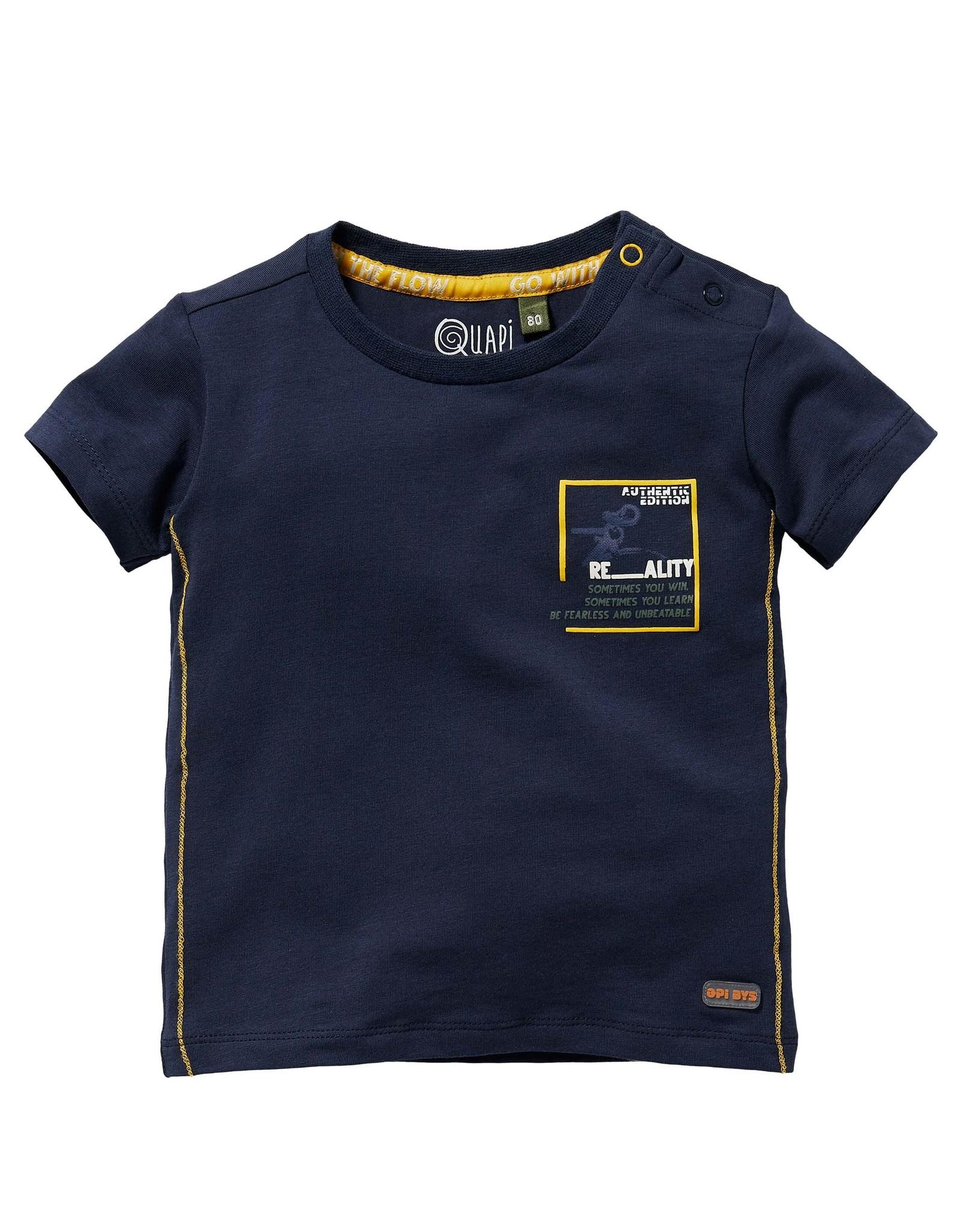Quapi Quapi baby jongens t-shirt Gael Dark Blue