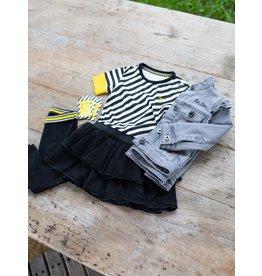 Quapi Quapi baby meisjes jurk Gea Black Stripe