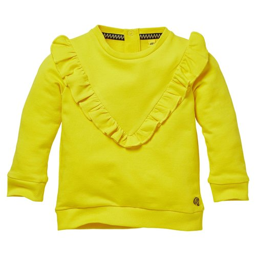 Quapi Quapi baby meisjes sweater Gila Summer Yellow