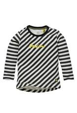 Quapi Quapi baby meisjes shirt Gerda Black Stripe