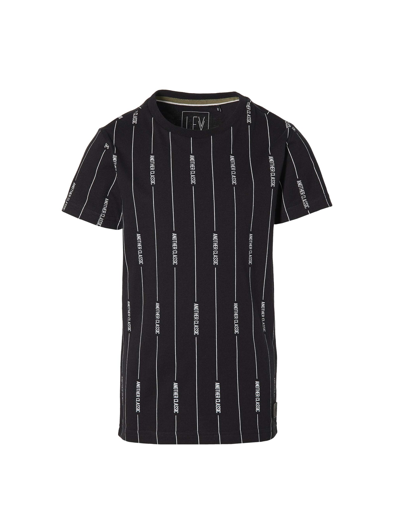 LEVV Levv jongens t-shirt Malin Black Text Stripe