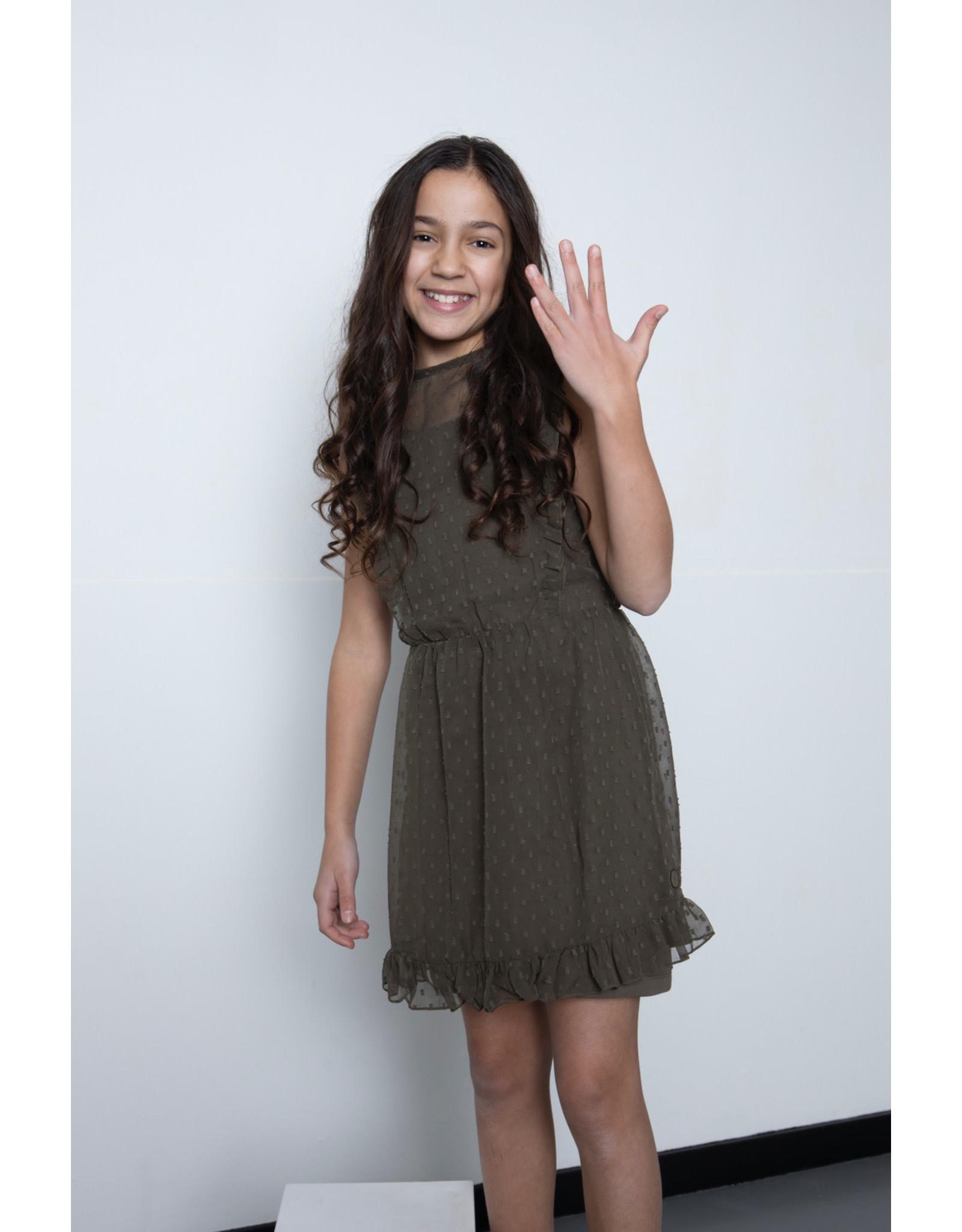 LEVV Levv meiden jurk Malou Olive