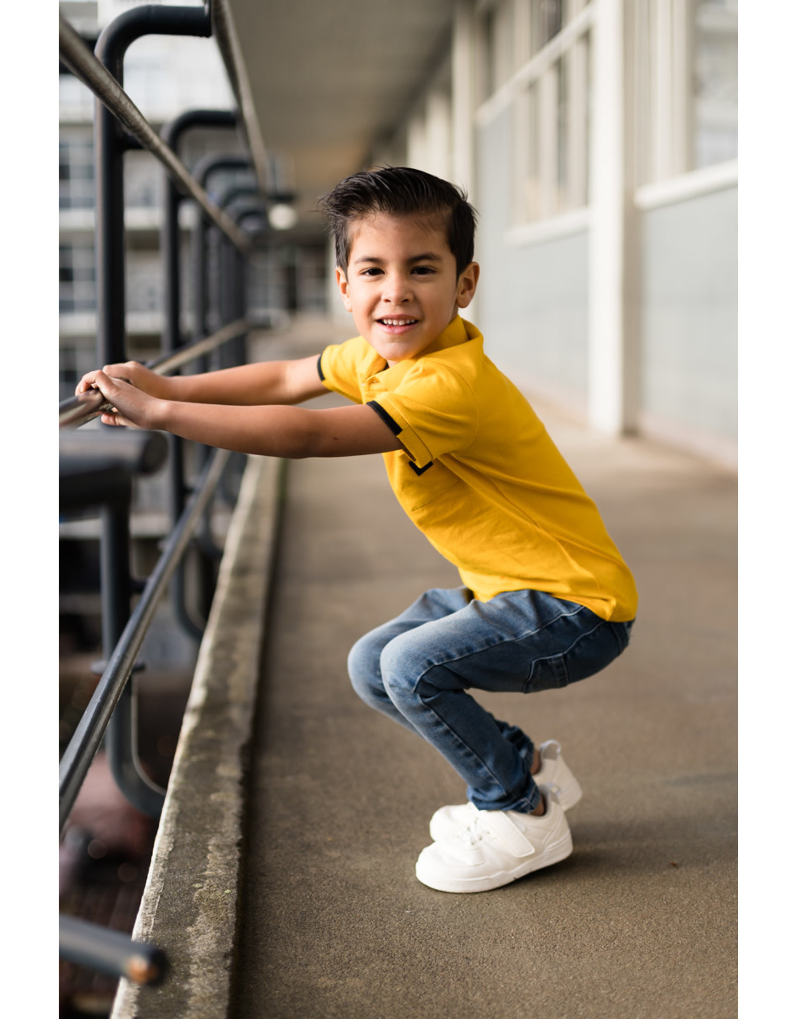 LEVV Levv jongetjes polo t-shirt Neal Old Yellow