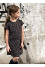 LEVV Levv meisjes jurk Naomi Dark Blue Retro