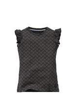 LEVV Levv meisjes t-shirt Nienke Dark Blue Retro