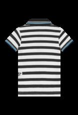 Quapi Quapi baby jongens polo t-shirt Blaze Dark Grey Stripe