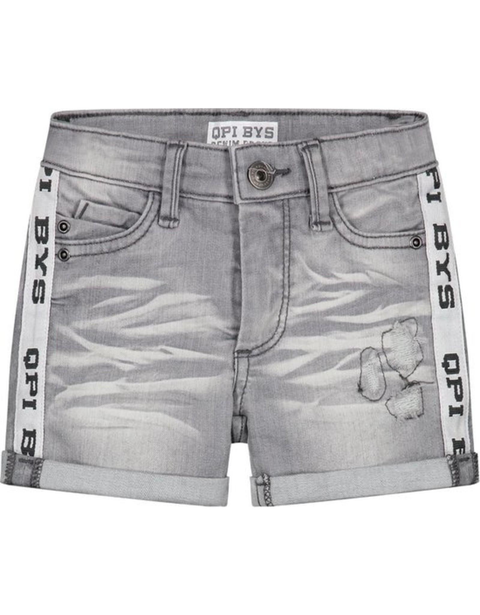 Quapi Quapi baby jongens korte jeans Brecht Light Grey Denim