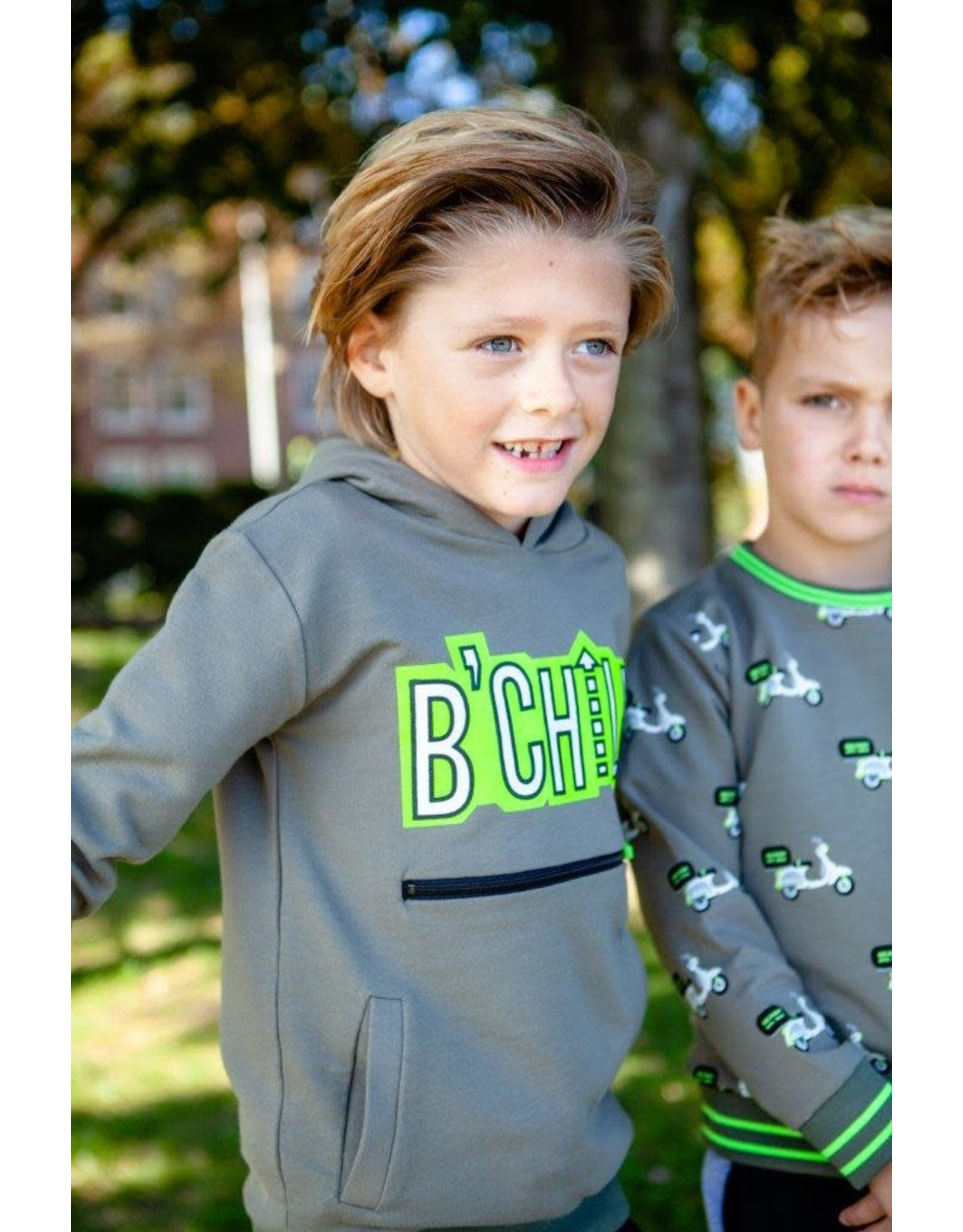 B'Chill B'Chill jongens t-shirt Finn Olive Green