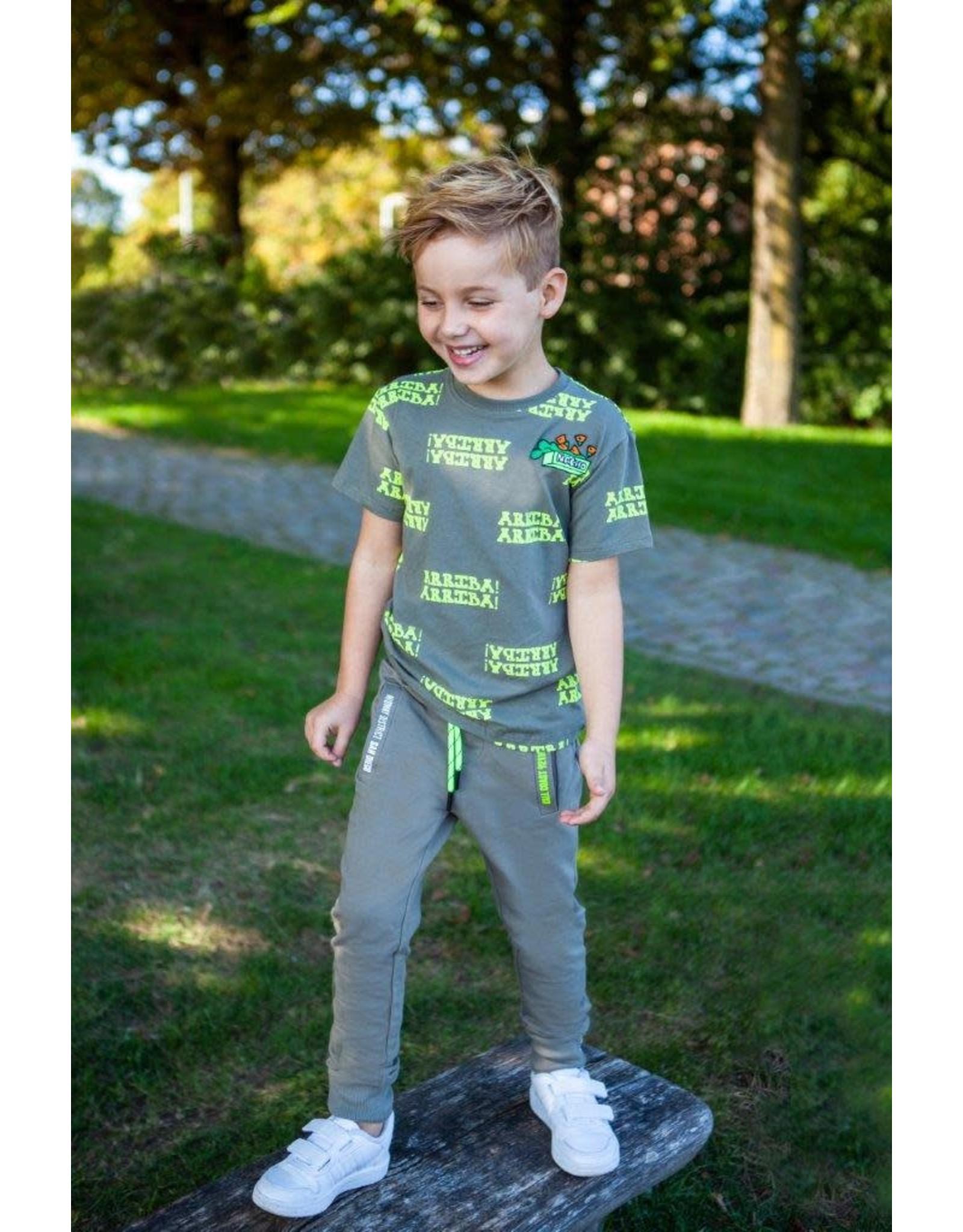 B'Chill B'Chill jongens joggingbroek Adam Olive Green